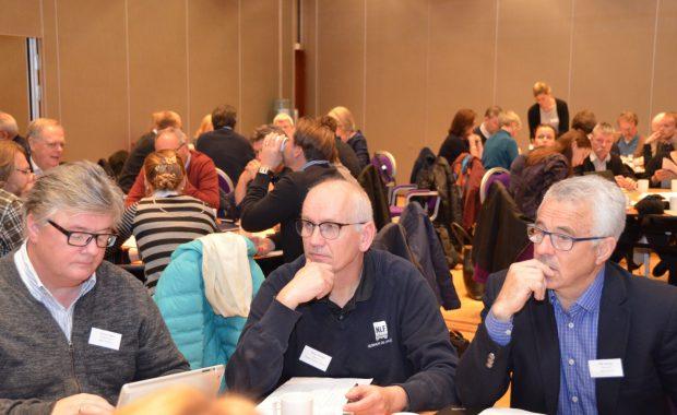 Gruppearbeid under dialogsamling på Lillehammer november 2017.